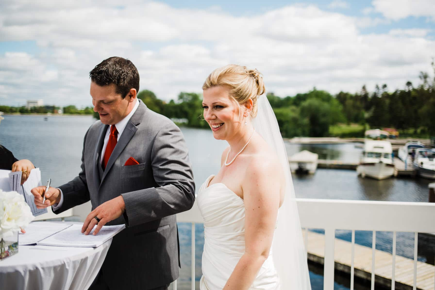 Lago Bar and Grill Wedding - Balcony Ceremony