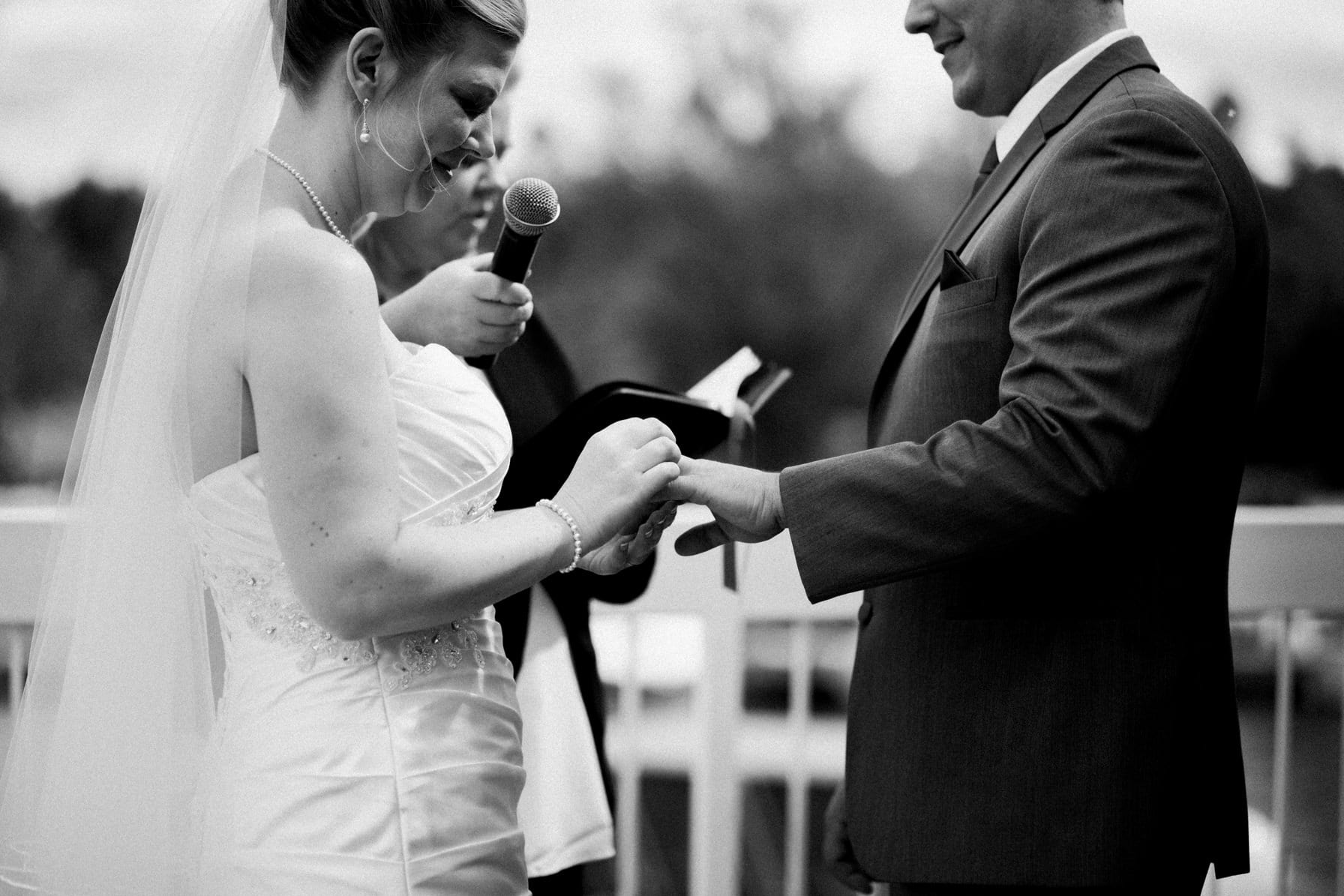 Lago Bar and Grill Wedding - Ring Exchange