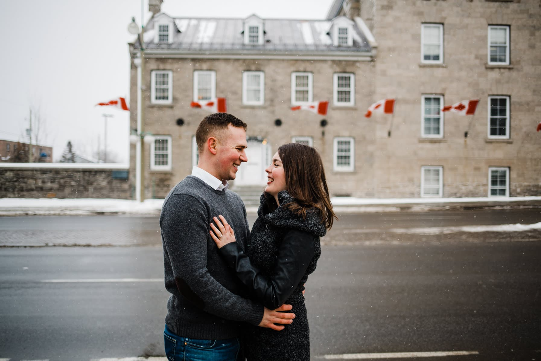 Downtown Ottawa Engagement Session -Outdoor Winter Portraits