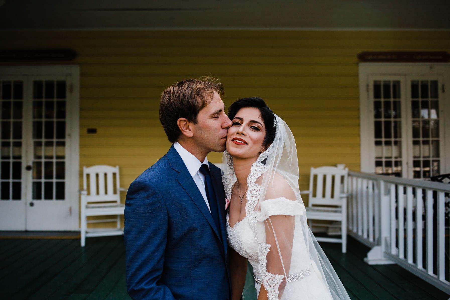 Bride & Groom Portrait - Intimate Wedding Mackenzie King Estate