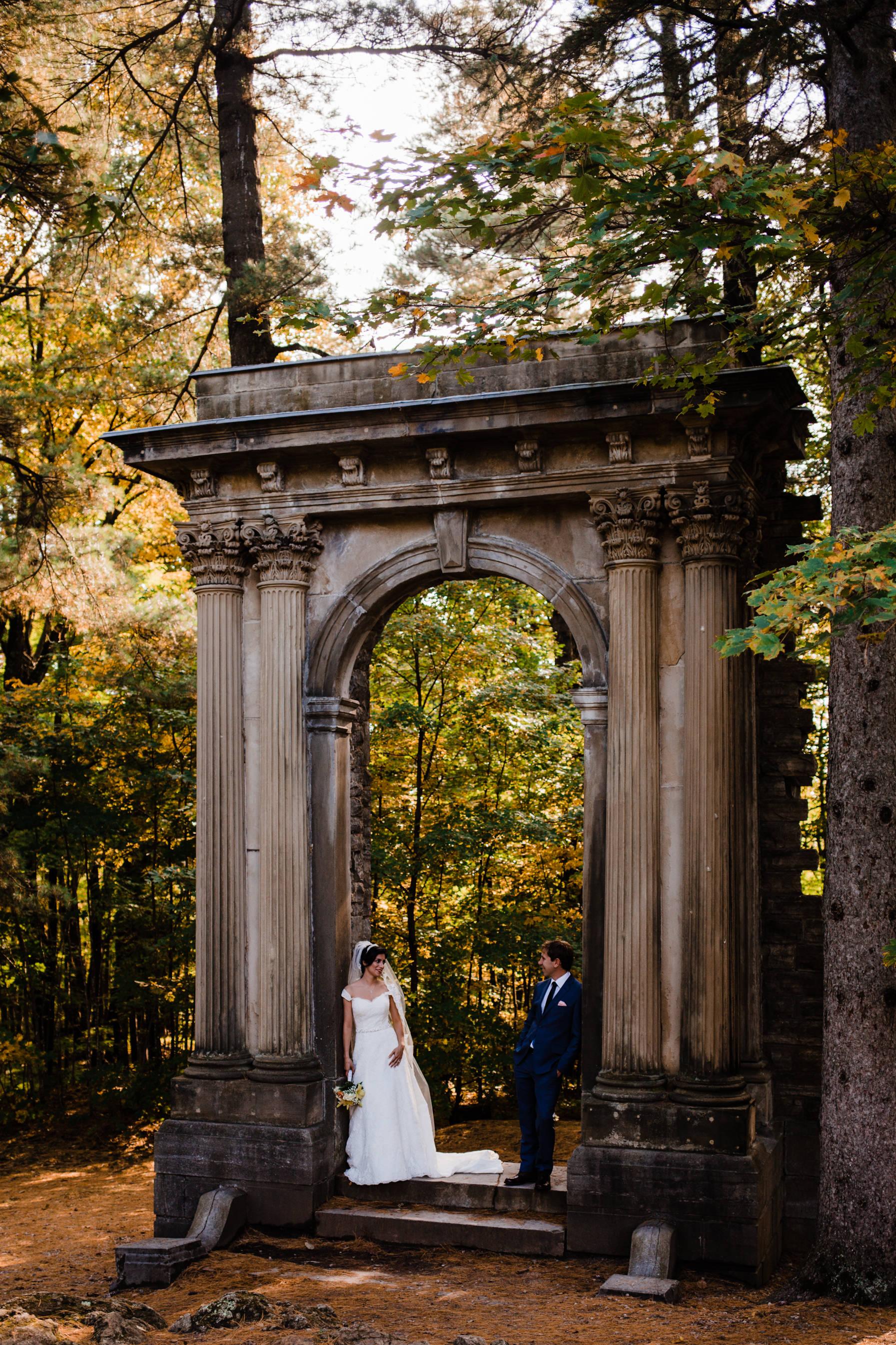 Bride & Groom - Intimate Wedding Mackenzie King Estate