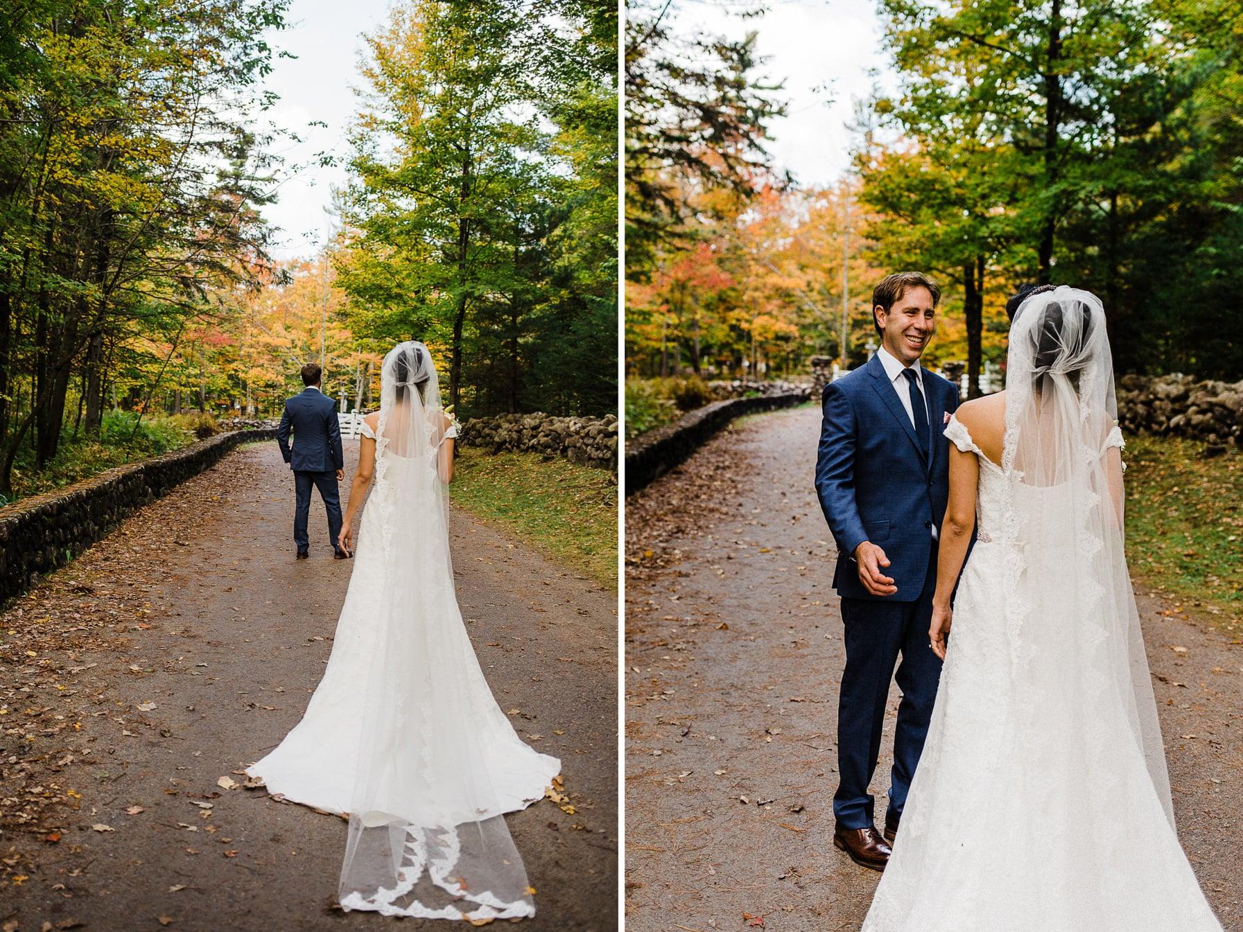 First Look - Intimate Wedding Mackenzie King Estate