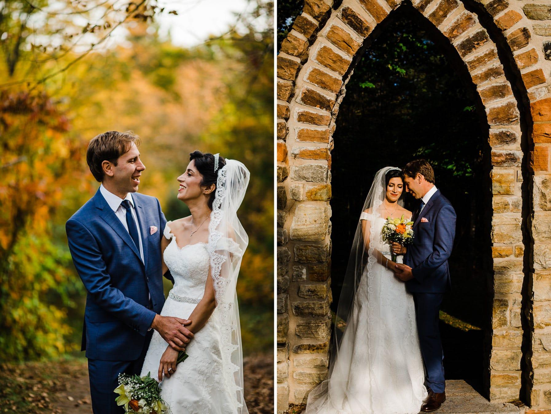 Bride & Groom Portraits - Intimate Wedding Mackenzie King Estate