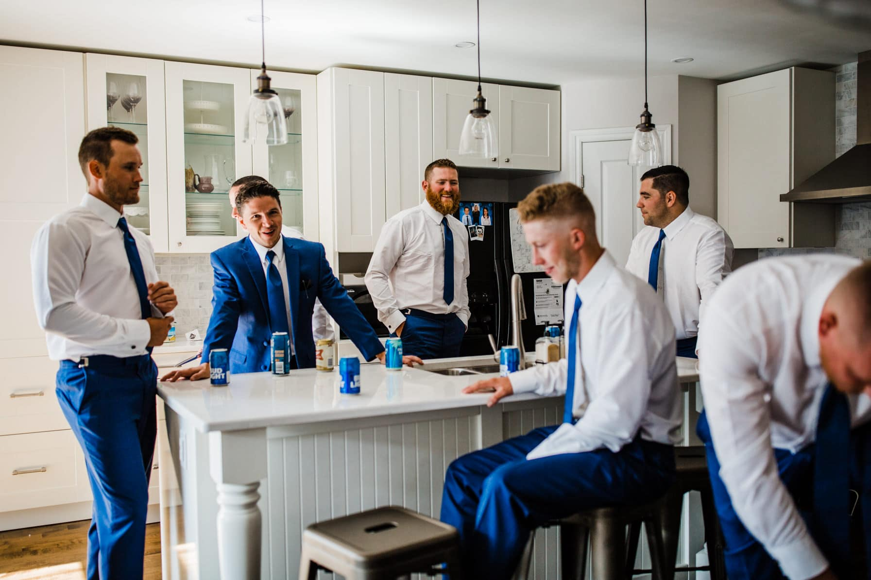 groomsmen hanging out - summer farm wedding