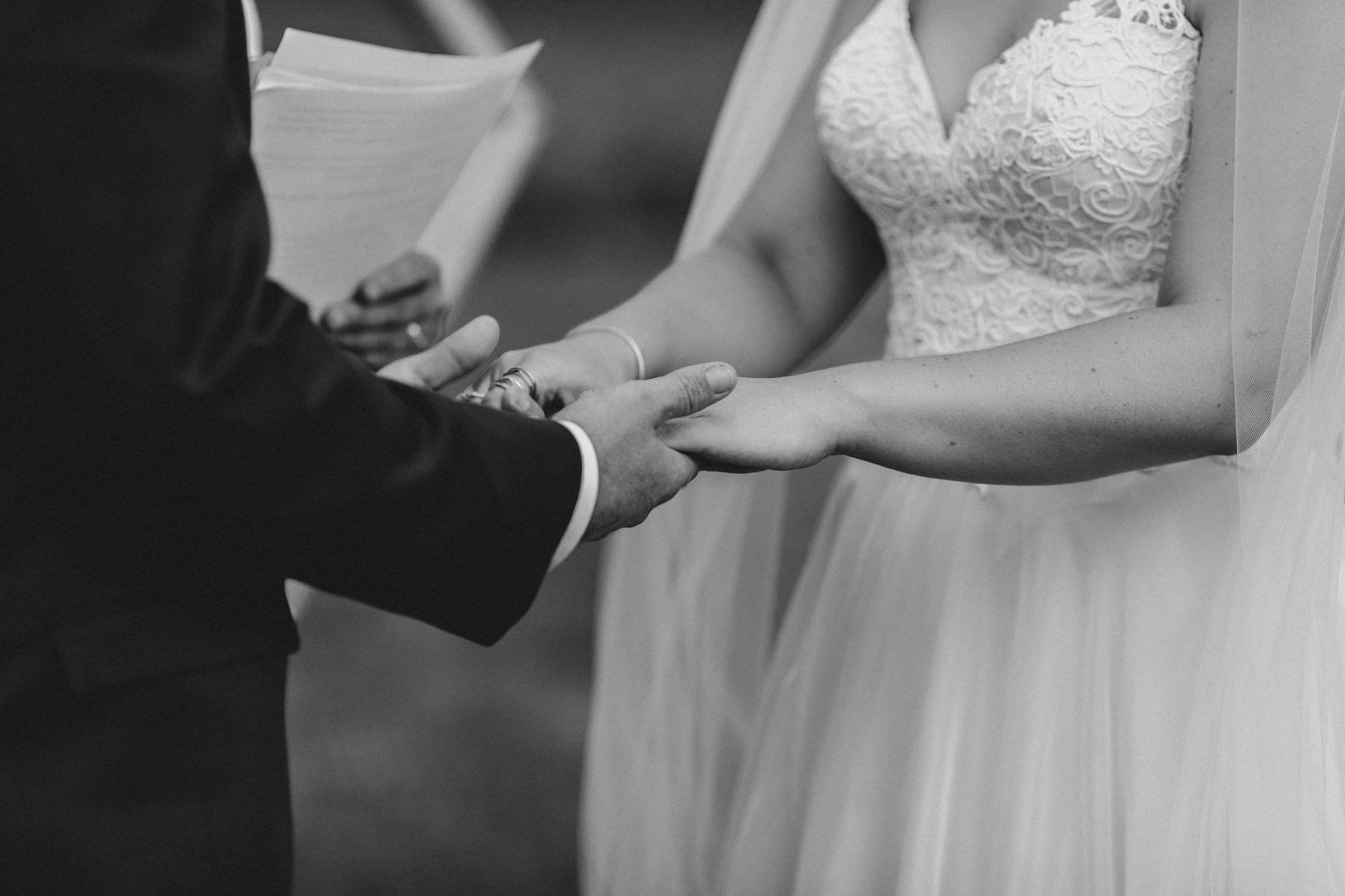 ring exchange - summer farm wedding