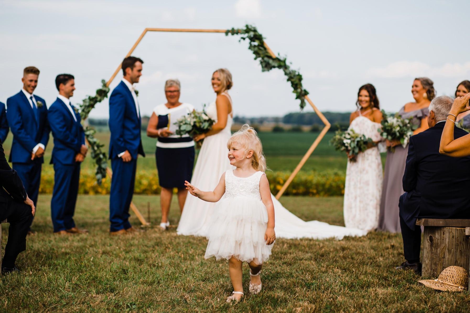 flower girl - summer farm wedding