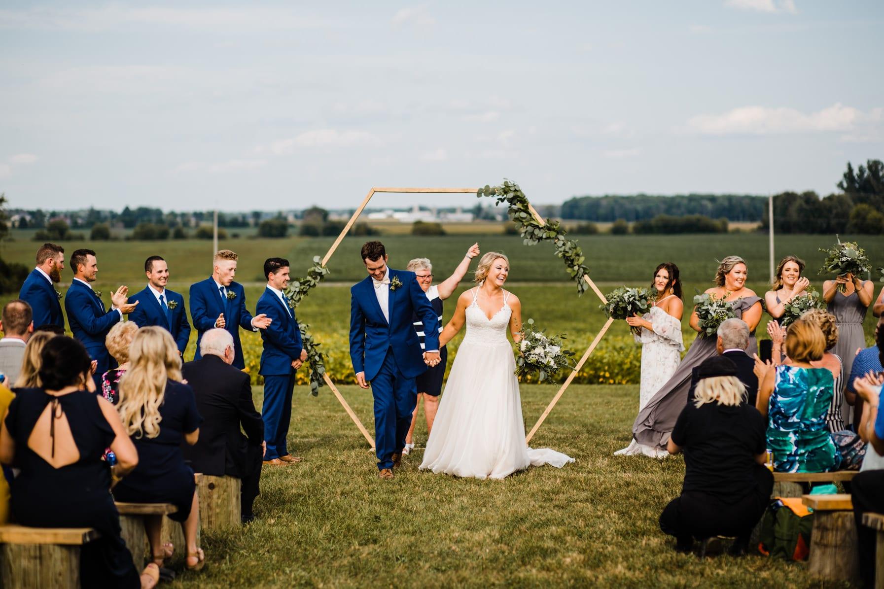 processional - summer farm wedding