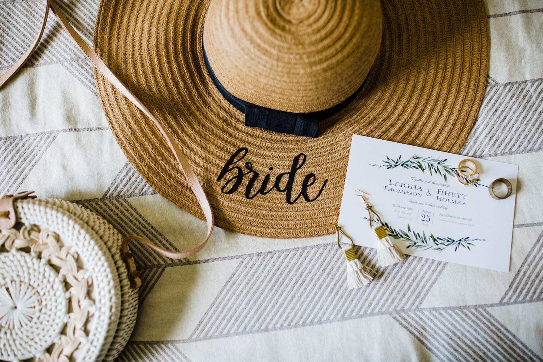 bridal details - summer farm wedding