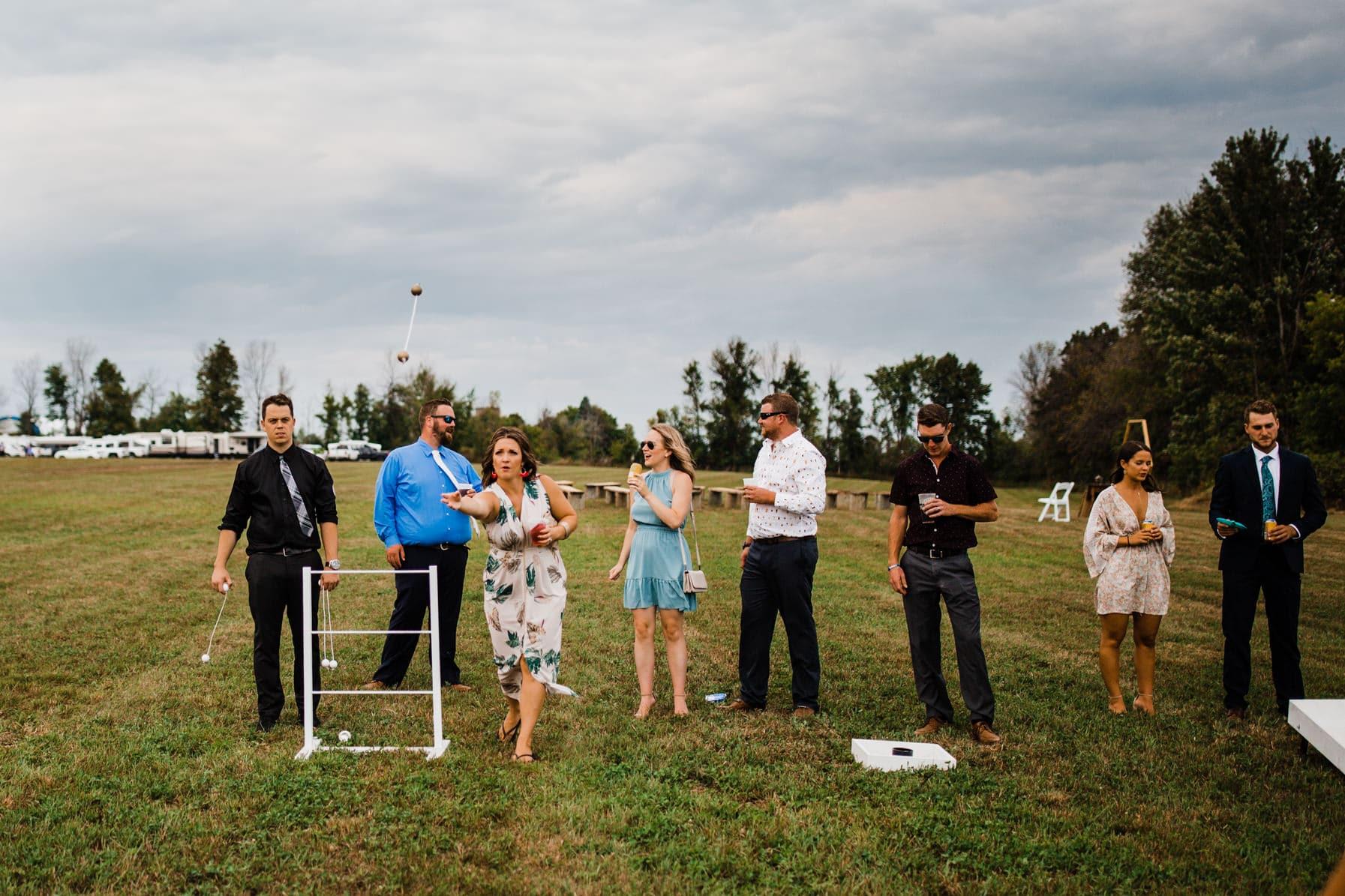 outdoor games - summer farm wedding