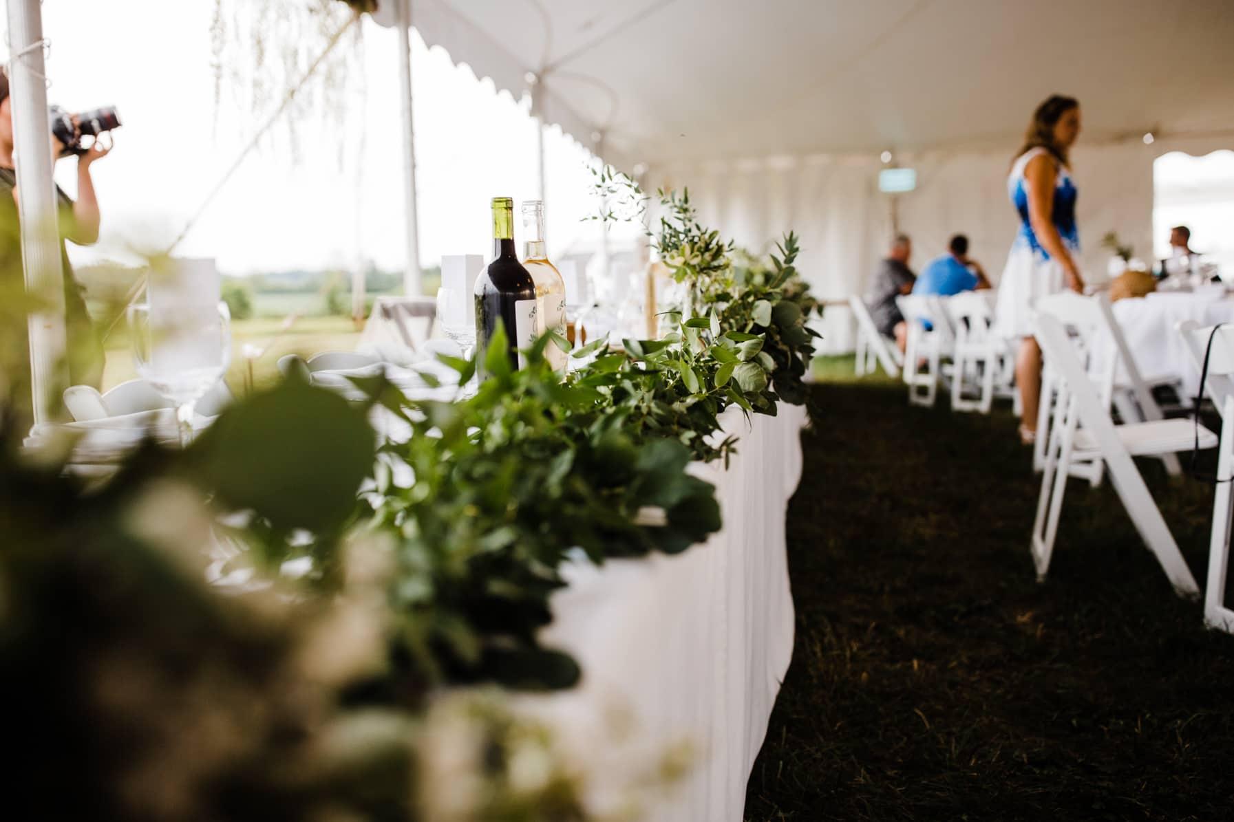 reception details - summer farm wedding