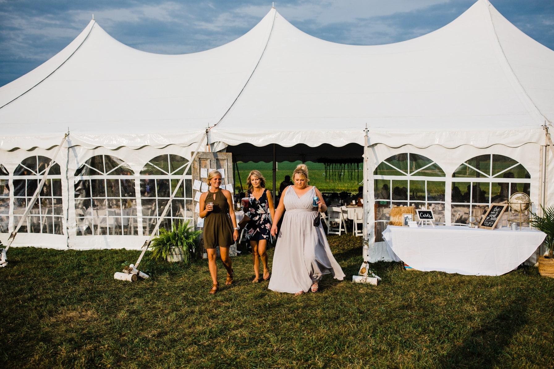 cocktail hour - summer farm wedding