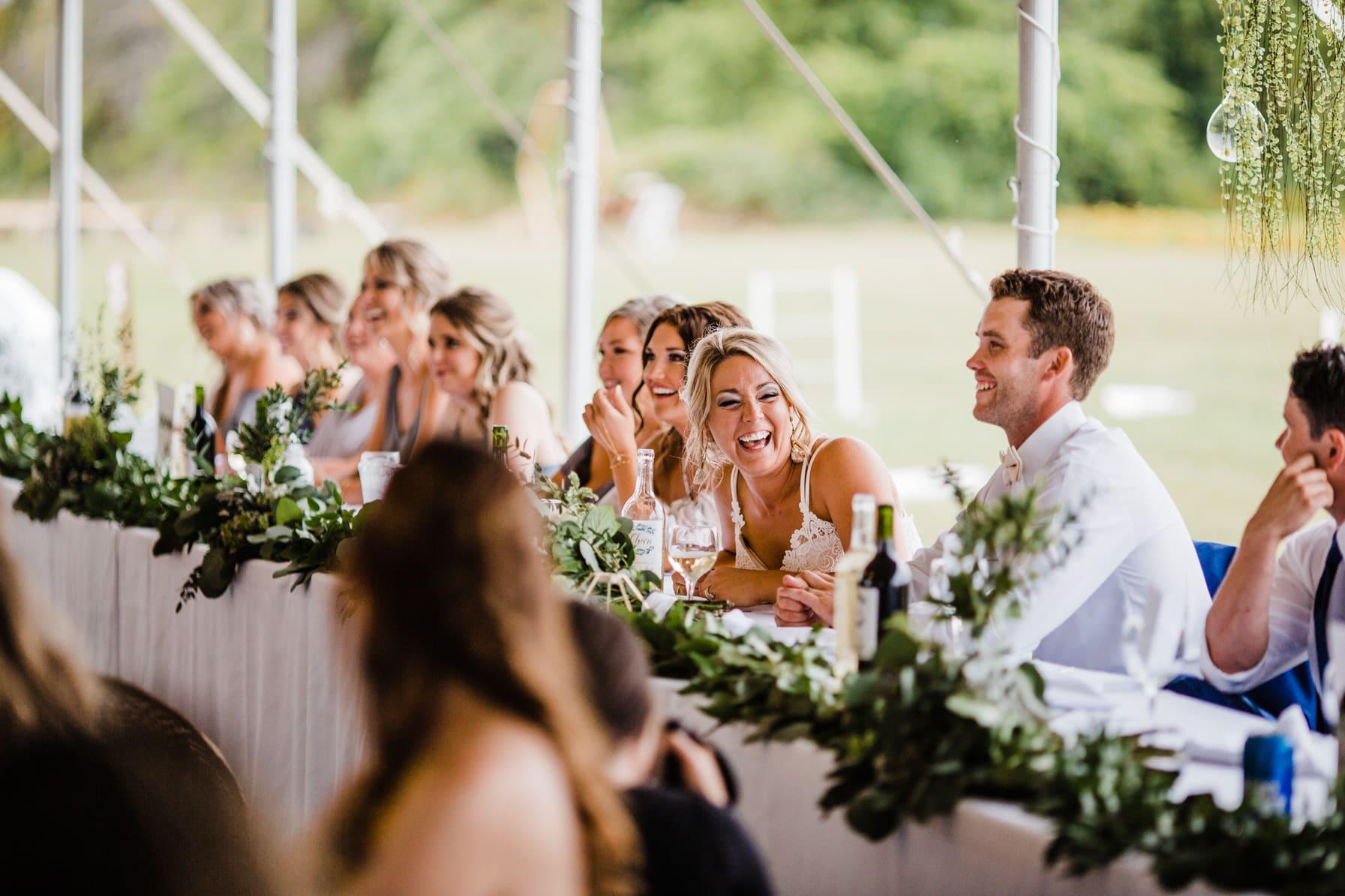 reception speeches - summer farm wedding