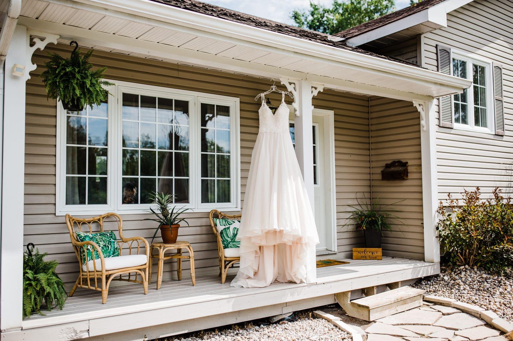bridal prep - summer farm wedding