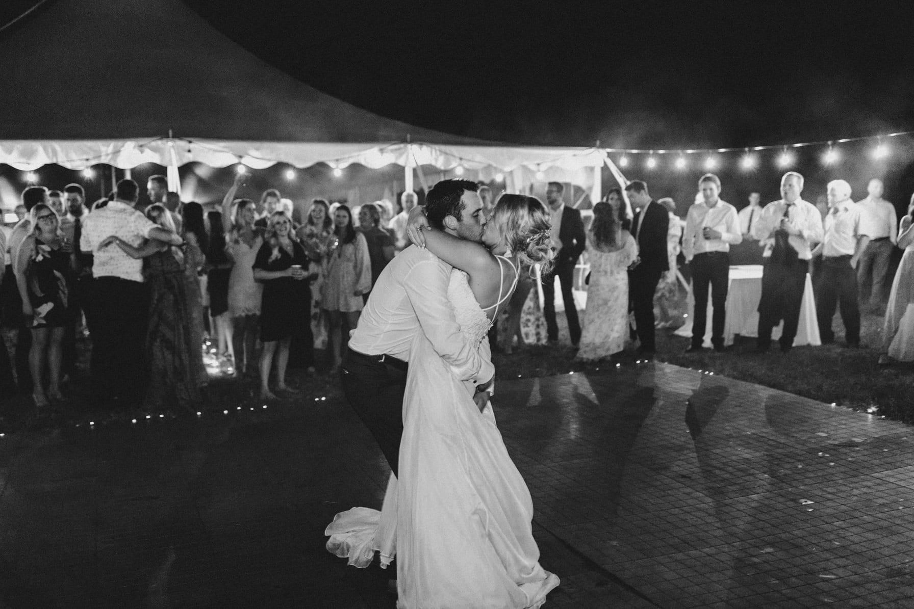 first dance outdoors - summer farm wedding