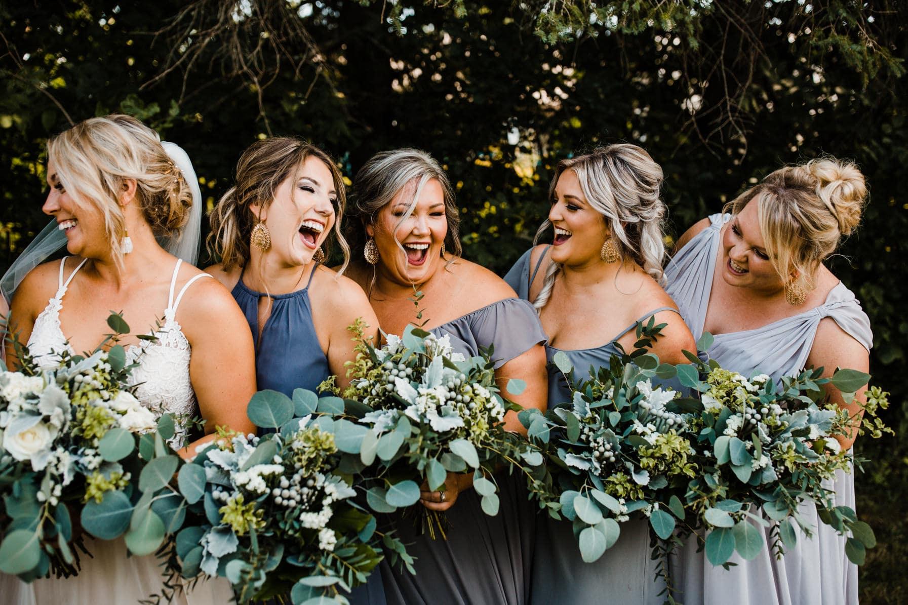 bridemaids - summer farm wedding