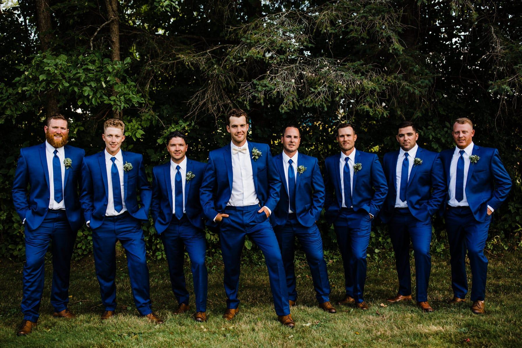 groomsmen - summer farm wedding