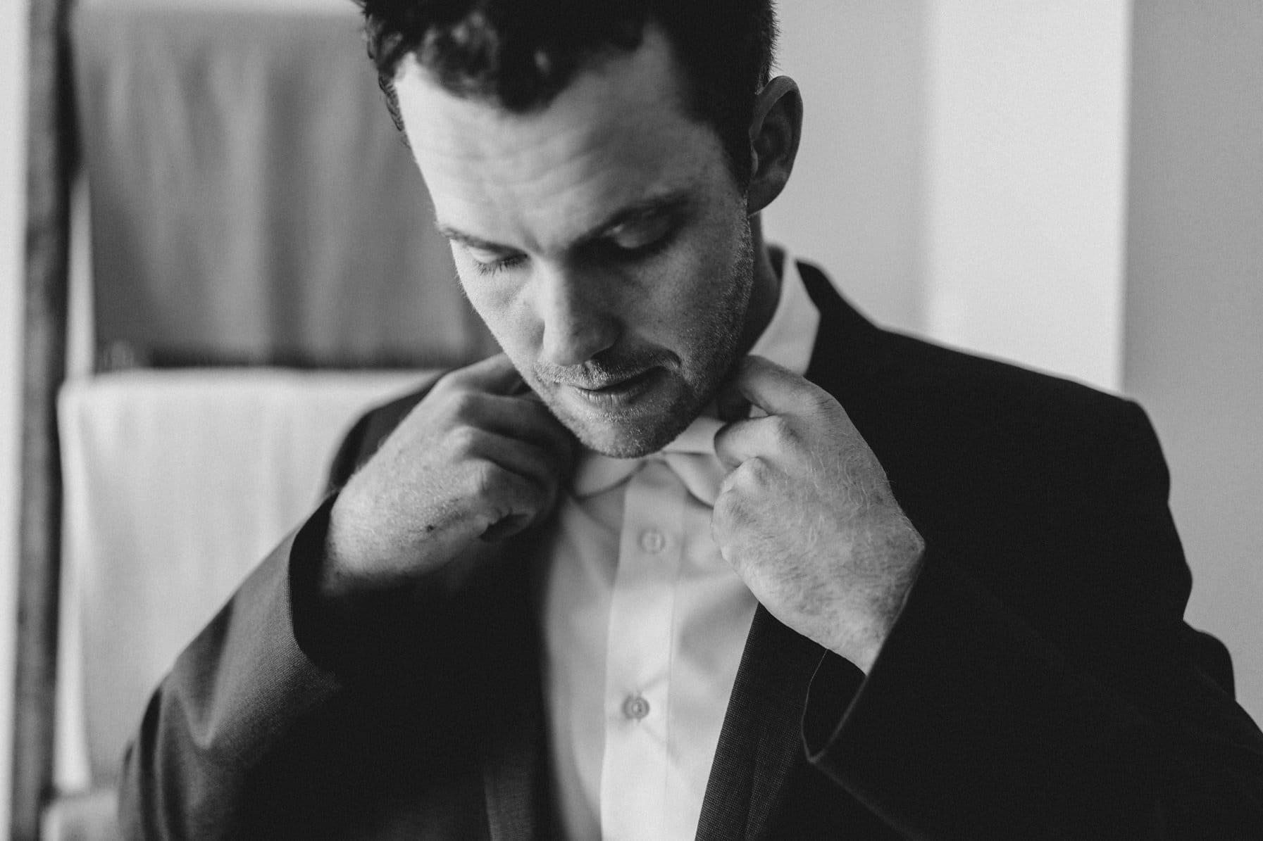 groom prep - summer farm wedding