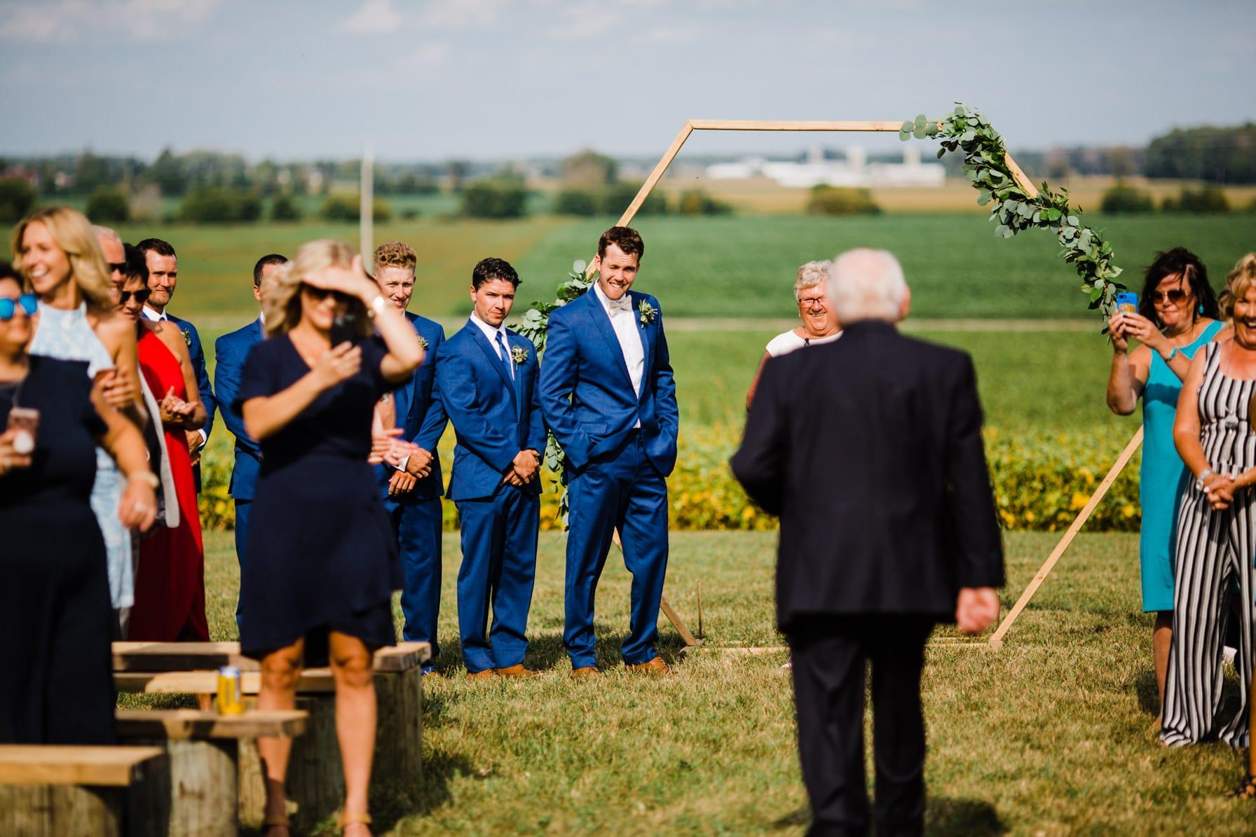 grandfather as ring bearer - summer farm wedding