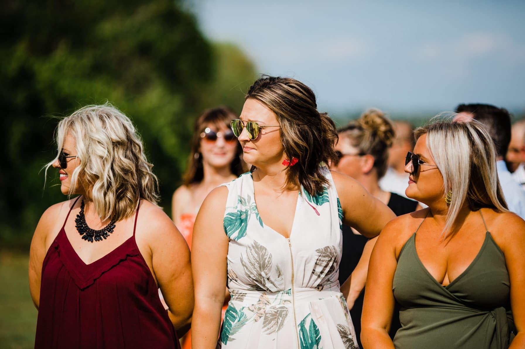 bride arrives - summer farm wedding