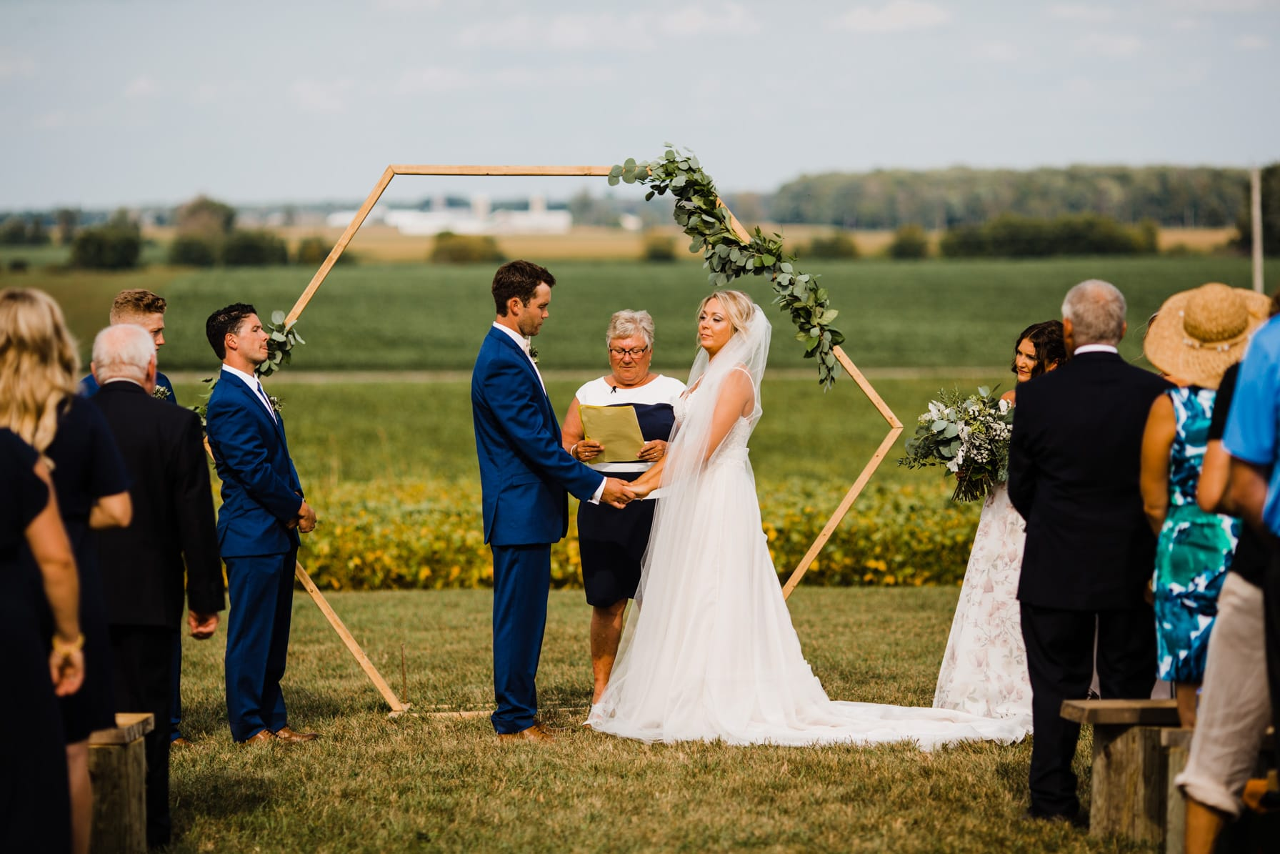 outdoor ceremony - summer farm wedding