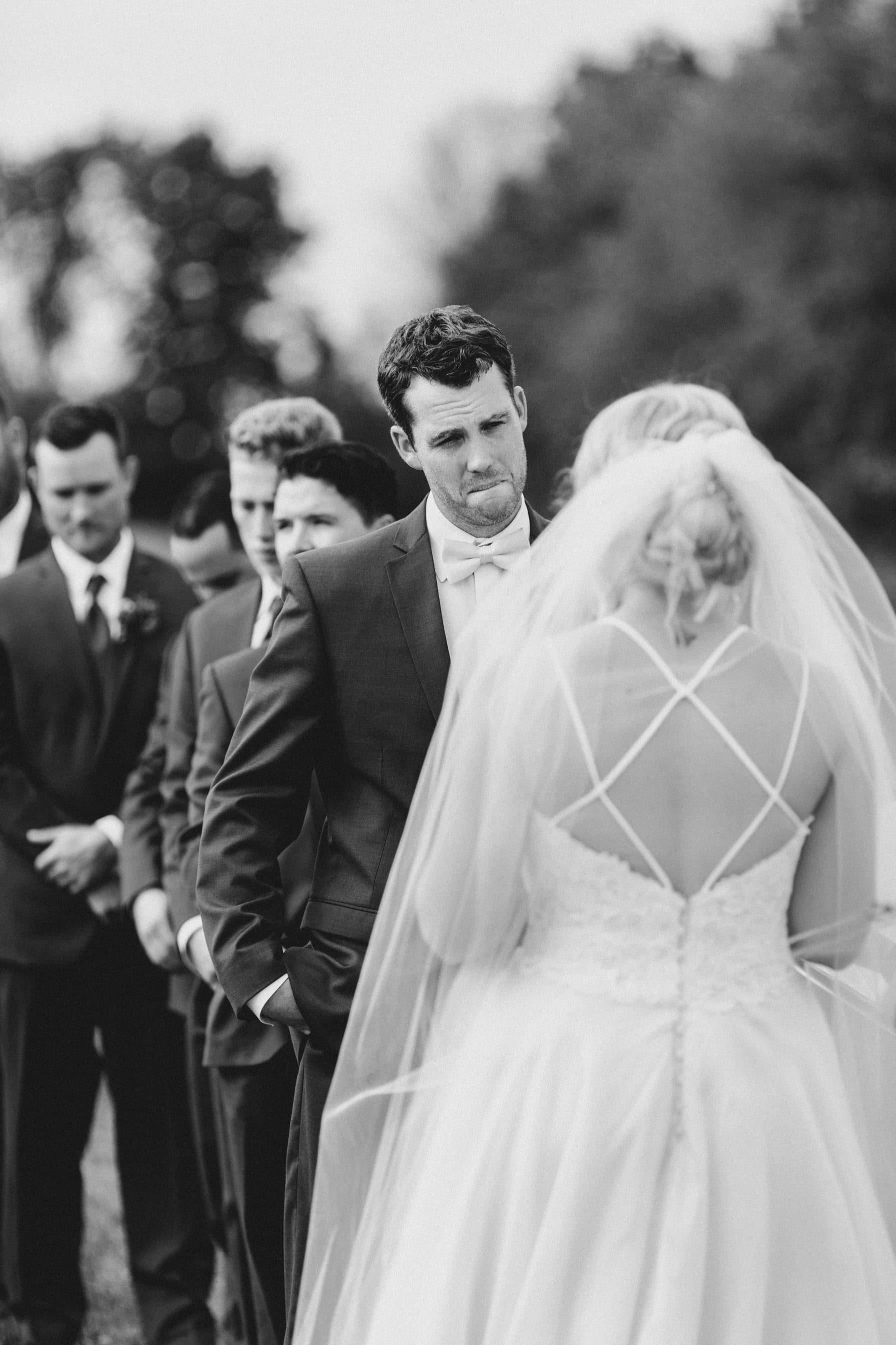 emotional vows outdoor ceremony - summer farm wedding