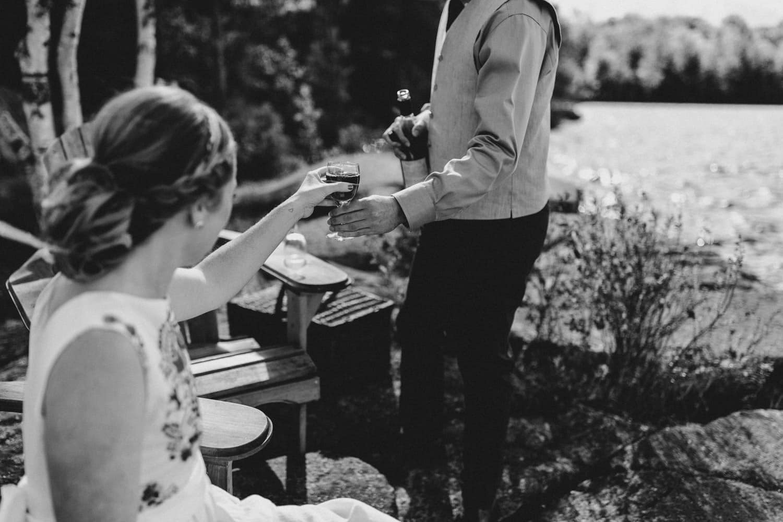 first look picnic summer camp wedding