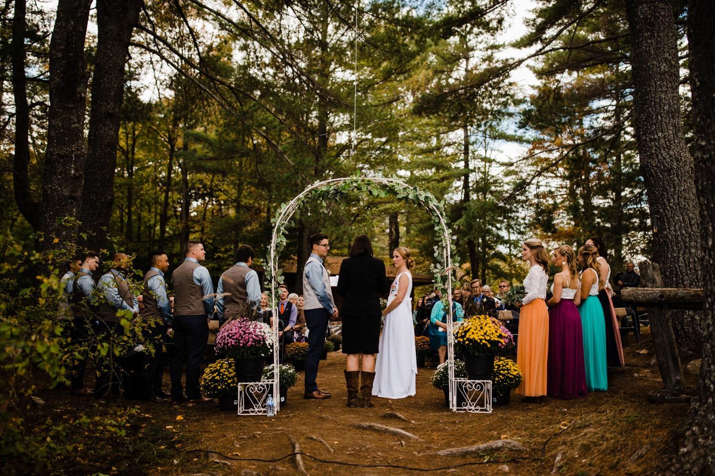 bark lake ceremony - summer camp wedding