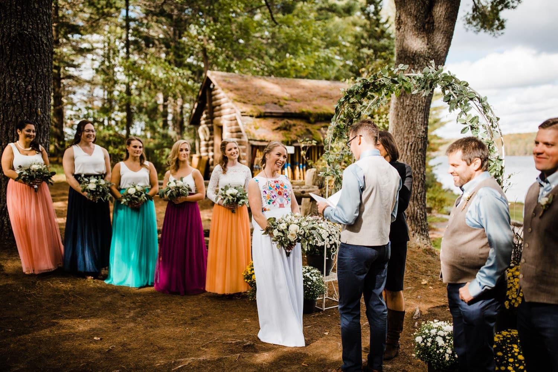 bark lake summer camp wedding