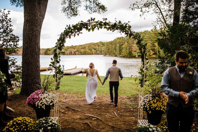 wedding recessional - summer camp wedding