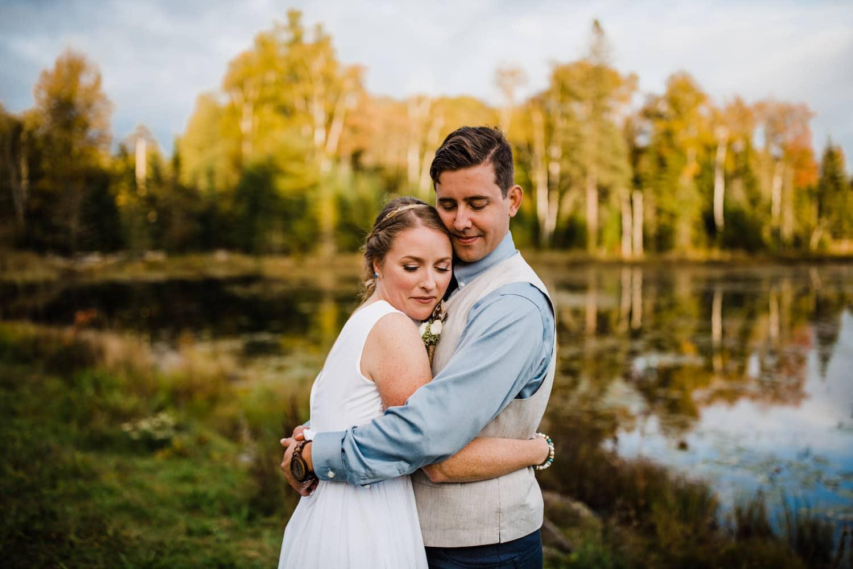 sunset portraits - summer camp wedding